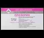 Прозерин – инструкция, как принимать и дозировка, действующее вещество, противопоказания и отзывы