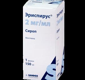 Эриспирус в таблетках и сиропе — при каком кашле помогает, дозировка для детей, противопоказания и отзывы