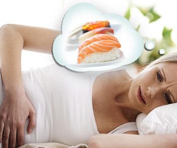 Женщина отравилась рыбой