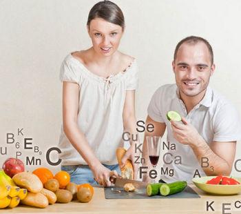 Микроэлементы в разной еде и напитках