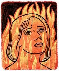 Лицо в огне