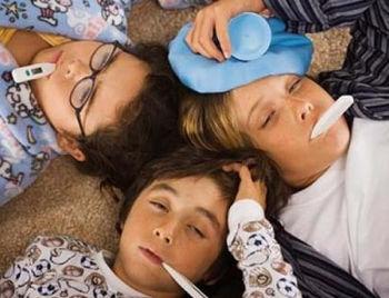 Три заболевших ребенка