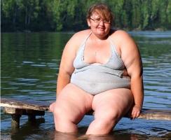 Толстая женщина
