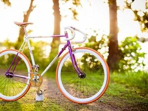 Велосипед на природе