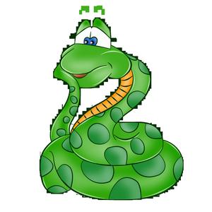 Картинка зеленой змеи