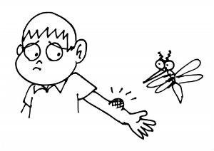 Картинка - комар укусил мальчика