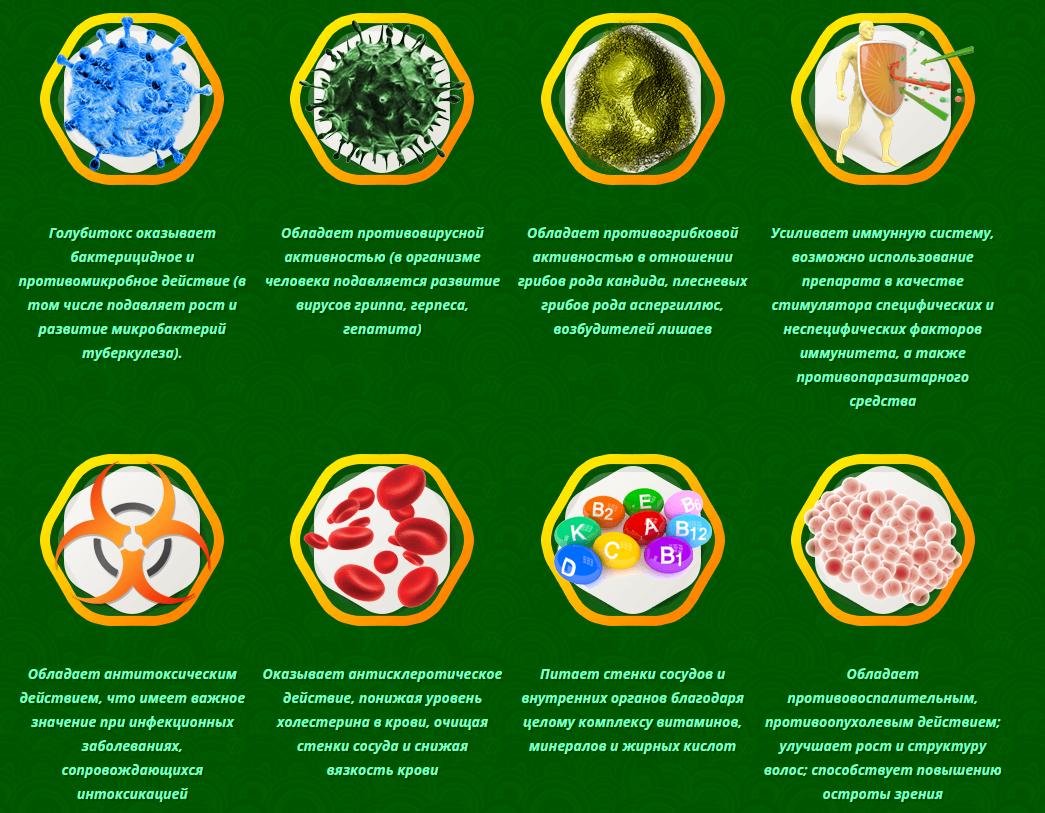 Влияние голубитокса на организм