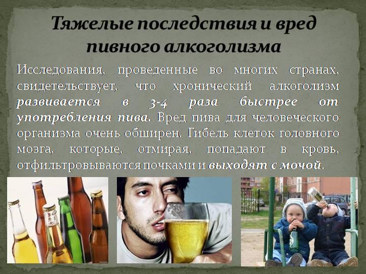 Ежедневное употребление пива алкоголизма
