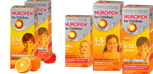 Нурофен для детей разного возраста