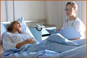 Больная в больничной палате