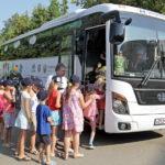 Групповая поездка детей на автобусе