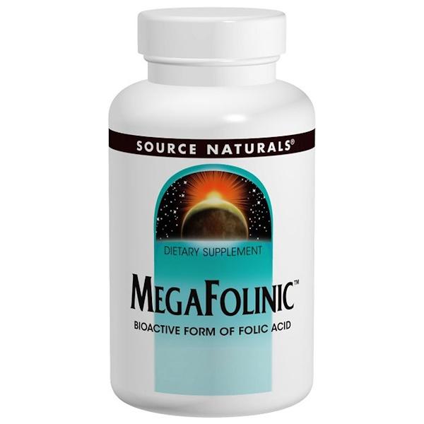 Source Naturals, MegaFolinic, 800мкг, 120таблеток