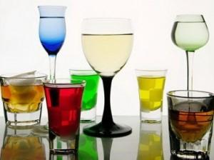 Бокалы с напитками