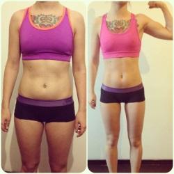 Результаты сушки тела, до и после.