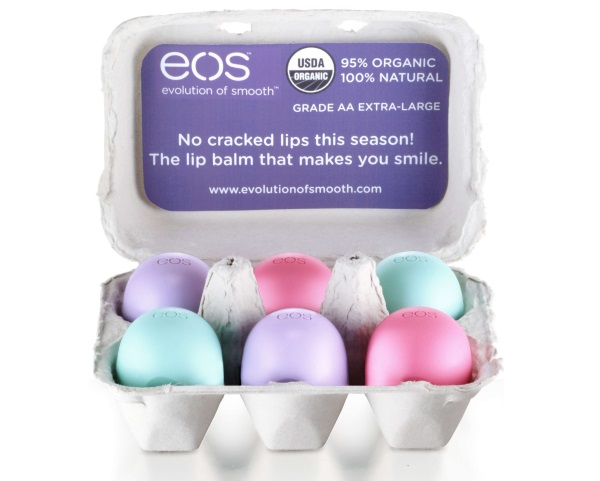 Оригинальные бальзамы EOS выпускаются в картонных и пластиковых блистерах.