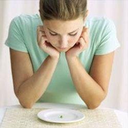 Девушка и пустая тарелка