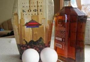 Кофе, яйца и коньяк