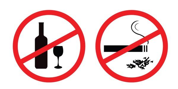 Запрет курения и алкоголя
