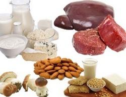 Продукты богатые витамином В