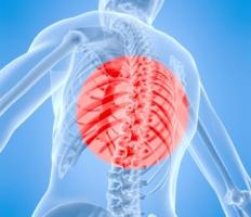 Торакалгия - боль в грудном отделе позвоночника.